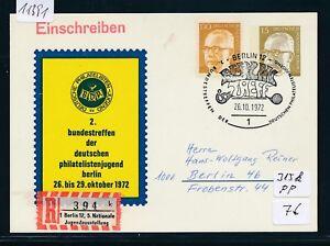 11391) Spécial R-ticket De Berlin 5.nat. Jugendausst., Pp 15pf Sst Rencontre 26.10.72-sst., Pp 15pf Sst Treff 26.10.72fr-fr Afficher Le Titre D'origine