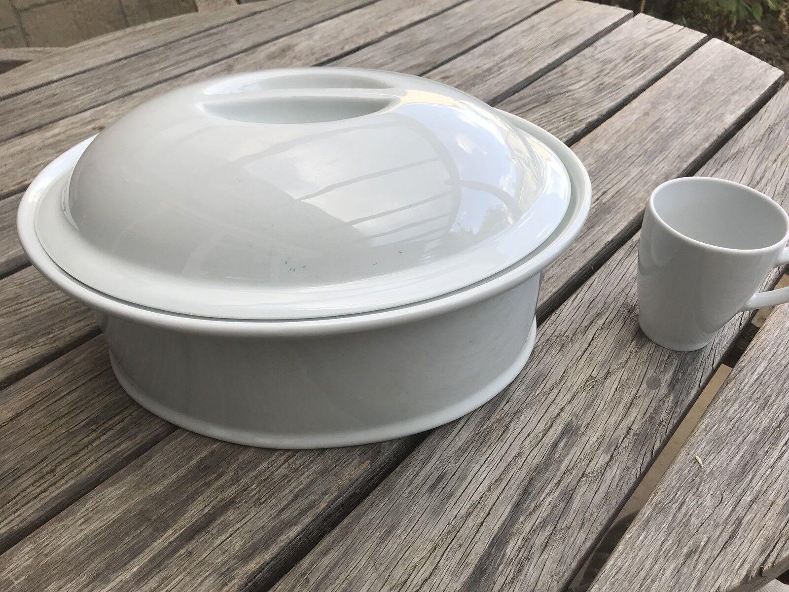 Extra Large cocotte PULLIVUYT Porcelaine Blanche Cocotte Rare Plus Fabriqué