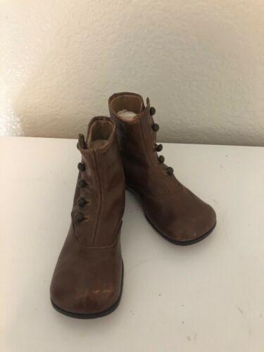Vintage Antique Leather Kids Boots Size 8.5
