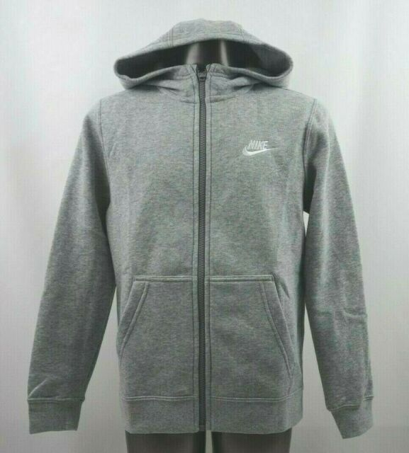 ebc89ee248f5 Nike Club Full Zip Long Sleeve Hoodie Youth Size S-L New with Tags AJ6725  063