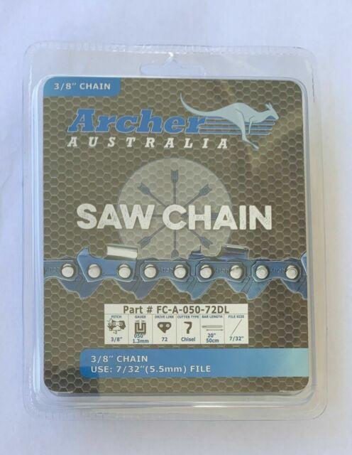 "2 pack 20"" Chainsaw Chain 3/8"" .050 72DL Rep. 72LGX072G Husqvarna Jonsered Stihl"