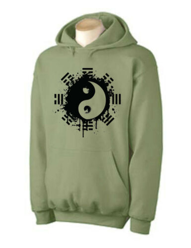 YIN /& YANG HOODIE Pagan Wicca Druid Chinese Taoism S-XXL Choice of Colour
