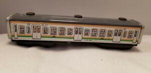 Vintage-TN-Japan-Tin-Friction-passenger-subway-car-211-555-7in-long-works