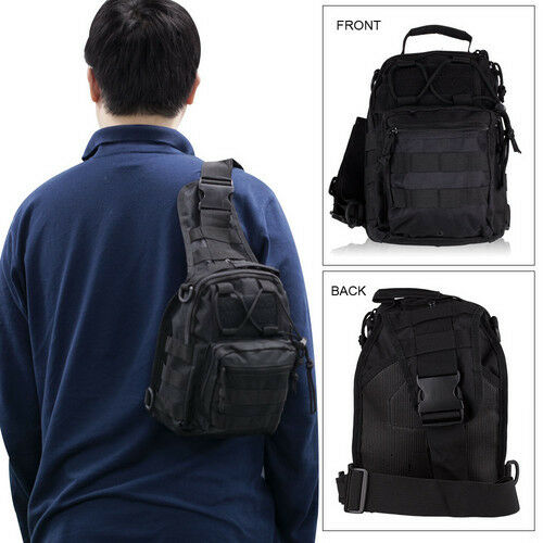 New Waterproof Men Military Tactical Bag Messenger Shoulder Sling Chest Backpack