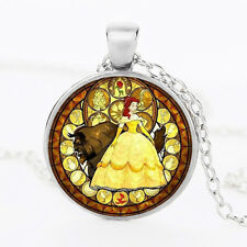 Beauty And The Beast Belle Princess Pendant Necklace Kids Jewelry birthday gift