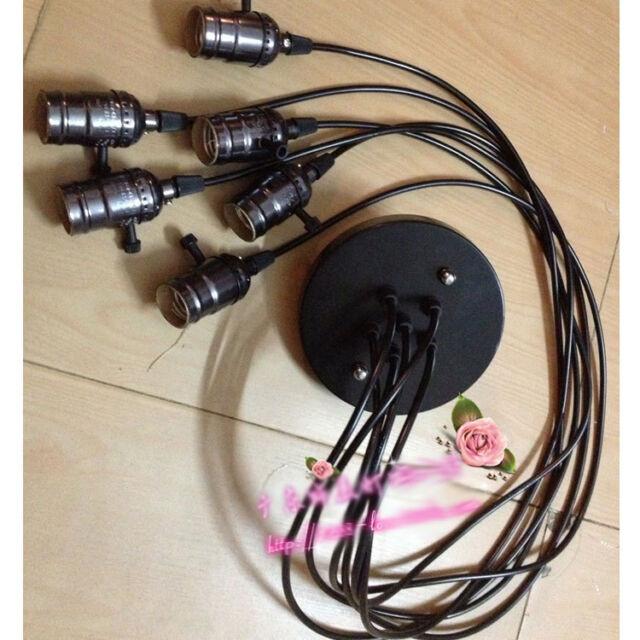Modern E26/E27 lamp holder Aluminum plate Switch hanging wire lampholders 860HC