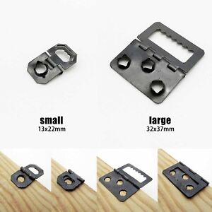 Details about 25pcs Picture Photo Frame Barbed Self-fix Sawtooth Foldable  Hinge Hanger Hook