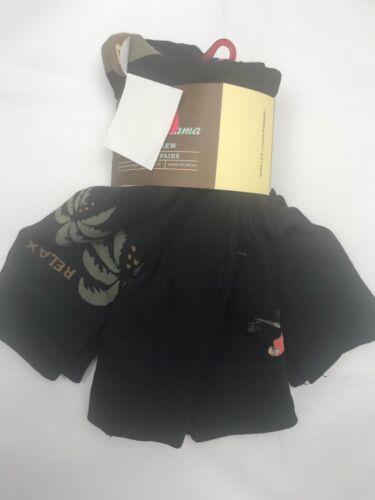 Tommy Bahama pour homme chaussettes noir 4 Paires Voiture Palmiers perroquets polyester mélangé NEUF
