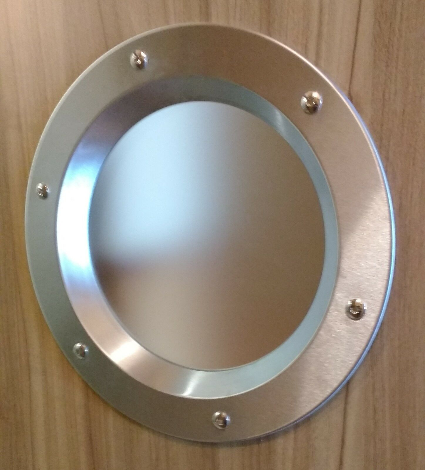 STAINLESS STEEL PORTHOLE VISION PANELS FOR DOORS phi 350 mm. New. Beautiful.