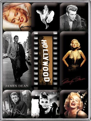 Hollywood Dean Monroe Hepburn Nostalgie Kühlschrank Magnet Set 9-teilig MAG26