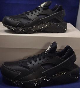 Womens Nike Air Huarache Run iD Black SZ 6 ( 777331-994 )