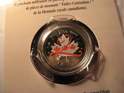 Canada 2000 Pride Coloured 25 Cent In Rcm Pack.