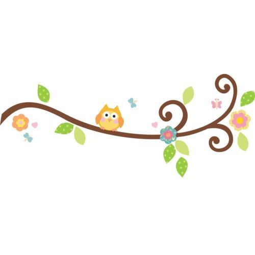 SCROLL TREE BRANCH  66 decals owl leaves flower wall stickers nursery scrapbook