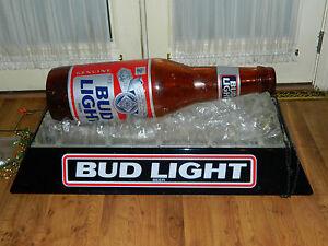 Budweiser Bud Light Beer Bottle On Ice Pool Table Light