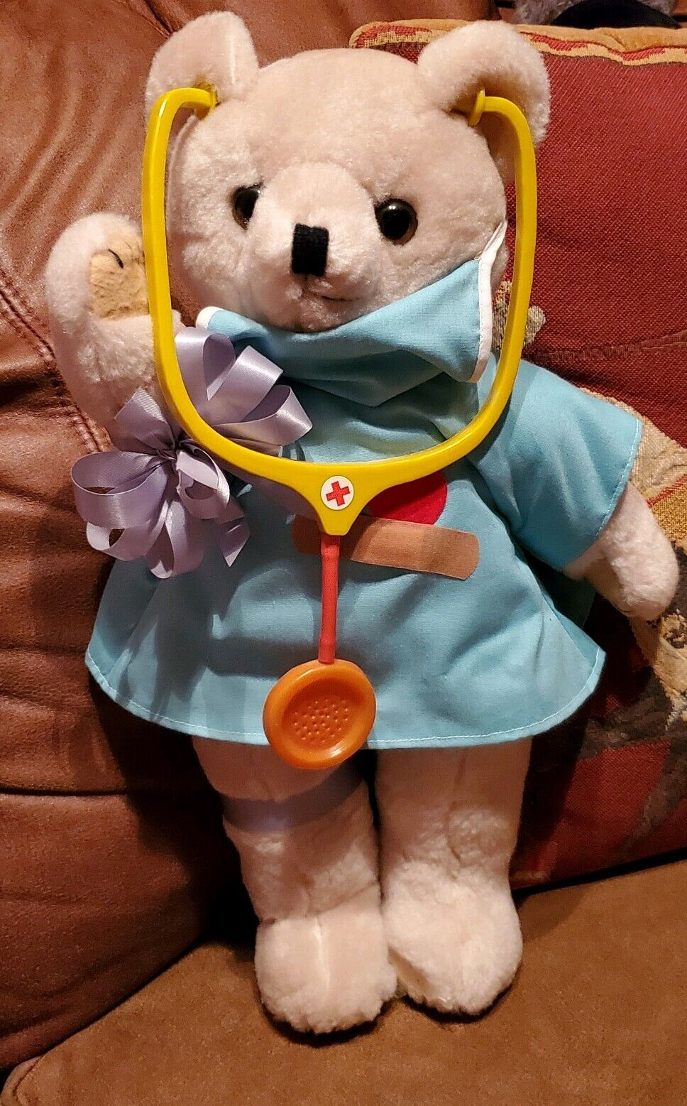 Vintage Teddy Bear Surgeon Doctor Scrubs nurse stethoscope healthcare gift