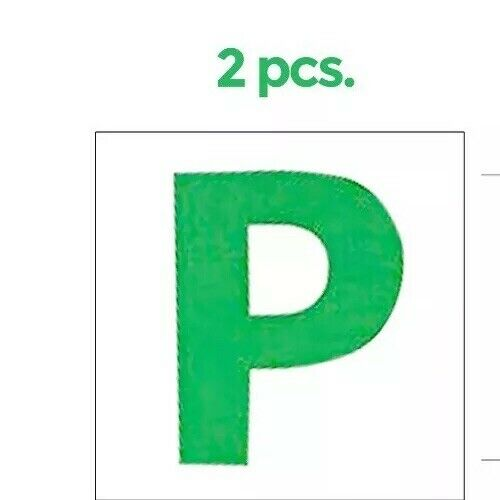 Car Clean  Driver 4 pc Magnetic L /& P Plates Pass Leaner Legal Size