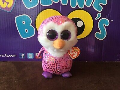 """Ty Beanie Boo PATTY the Penguin 6/"""" Justice Exclusive MWMTS"""