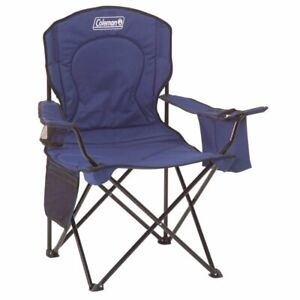 Portable Oversized Cushioned Loveseat Quad Folding Camping Chair Heavy Duty Gray