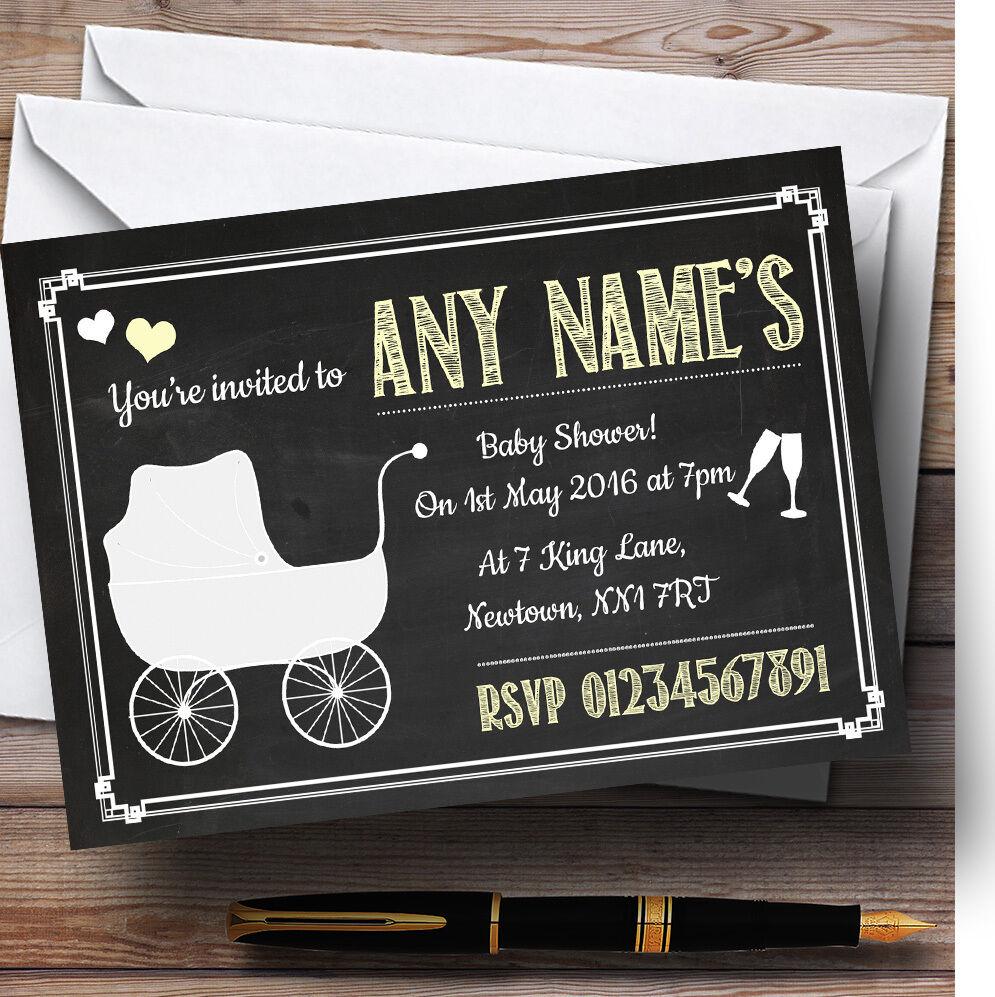 Noël personnalisées Nouvel An, sortez vous-même Tableau jaune invitations personnalisées Noël baby shower bc8f22
