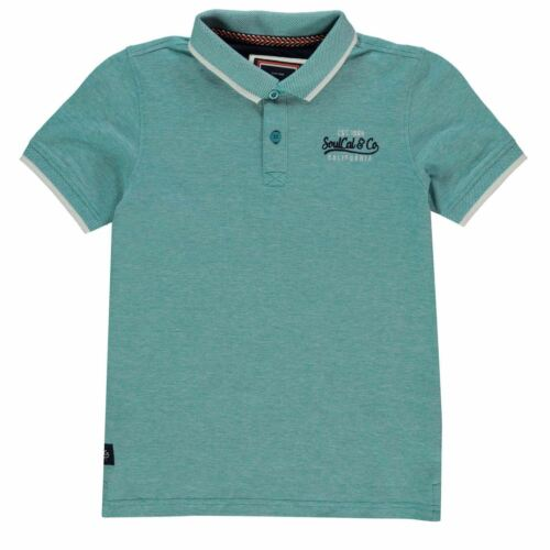 SoulCal Kids Boys Pique Polo Shirt Junior Classic Fit Tee Top Short Sleeve
