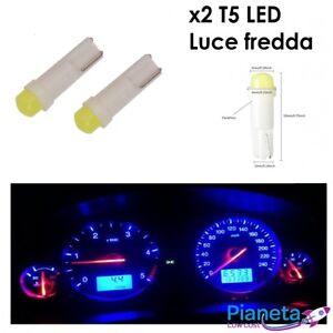 x2-T5-led-luce-di-posizione-bianca-luce-fredda-lampadine-auto