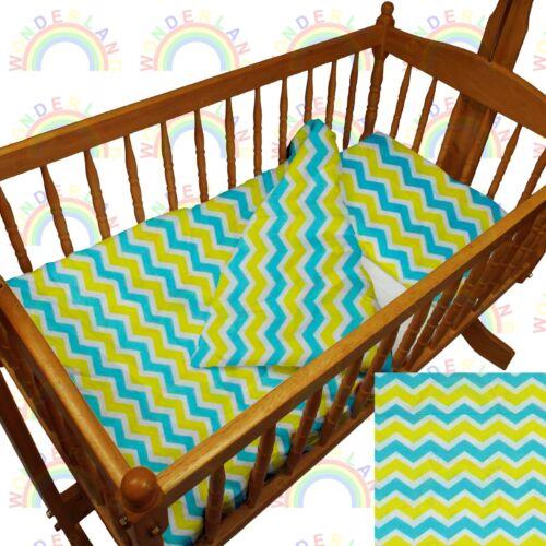 CRIB bedding DUVET FITTED SHEET PILLOW cradle BEDDING SET boy girl baby