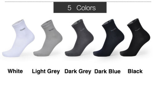Mens Bamboo Fiber Socks High Quality Breatheable Solid Color Casual Dress Sock