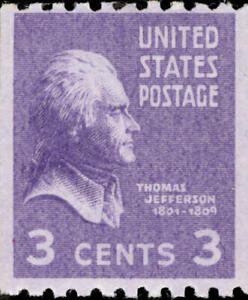 Scott-851-Thomas-Jefferson-Single-Stamp-MNH-OG-Free-Shipping