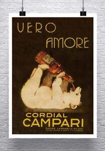 Liquor Wolf 1922 Marcello Dudovich Liquor Poster Canvas Giclee Print 24x32 in.