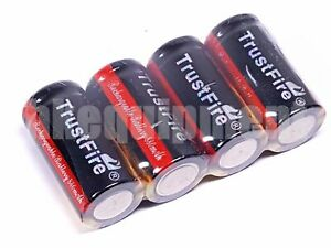 Trustfire-16340-RCR123-3-7v-Rechargeable-Battery-x4