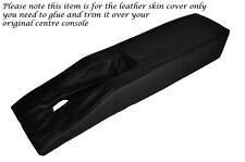 BLACK LEATHER  CENTRE CONSOLE TUNNEL SKIN COVER FITS CORVETTE C3 1977-1982