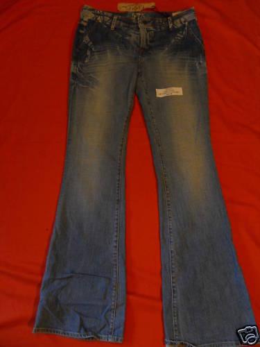 Nos 575 DENIM Cargo Blau Jeans Light Penny Bell Trousers Pants Bohemian 29