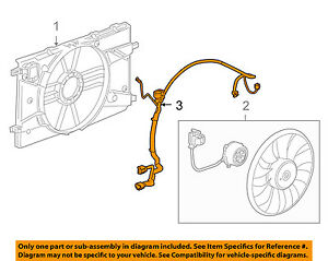 details about chevrolet gm oem 11-15 cruze 1 4l-l4 engine cooling fan-wiring  harness 94556239