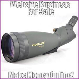 Fully-Stocked-SPOTTING-SCOPES-Website-Business-FREE-Domain-FREE-Hosting-Traffic
