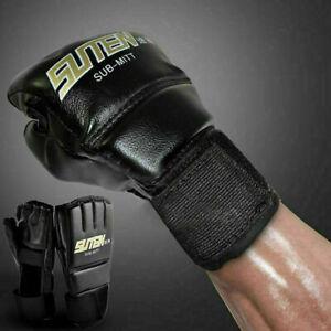 Boxen-Mma-Handschuhe-Ringen-Schlagen-Training-Kampfsport-Sparring-Luxus-LuGe