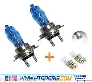 2 ampoules phare auto moto h7 6000k effet xenon 12v 55w 2 led w5w t10 10 smd ebay. Black Bedroom Furniture Sets. Home Design Ideas