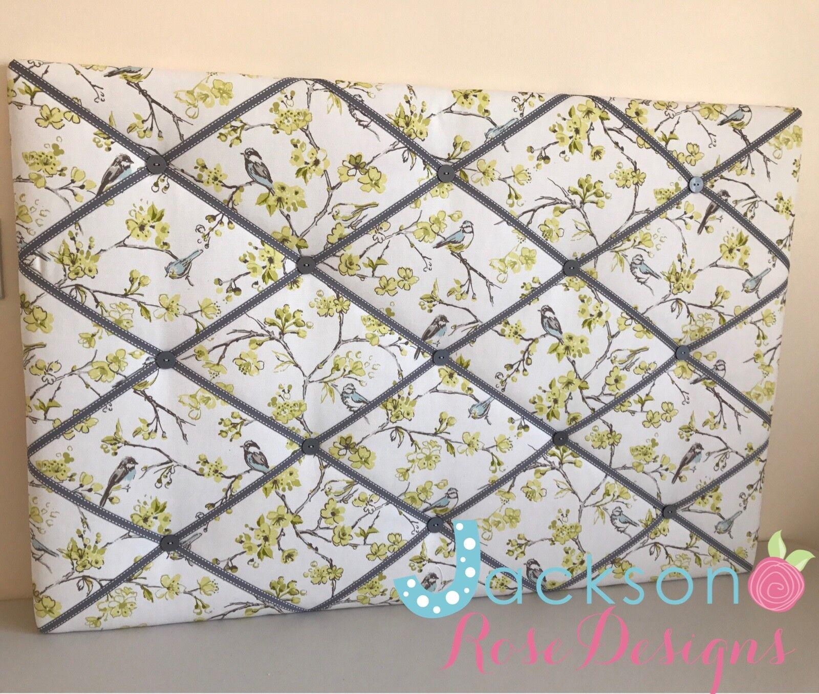 SM LG XL Tissu PIN/mémo/avis/PLANCHE PHOTO Citrus CLARKE & CLARKE Birdies Citrus PHOTO 5f81a5