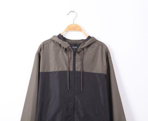 Details about  /Men/'s Windbreaker Windproof Zipper Rain Sportswear Outdoor Streetwear Size L