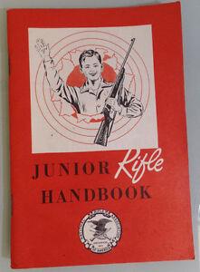 Vintage 1960 NRA Junior Rifle HandBook New Unused Good Shape