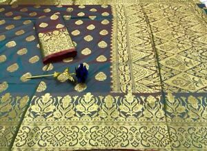 719bbf1eced8b Readymade soft banarasi silk saree with heavy rich pallu n blouse ...