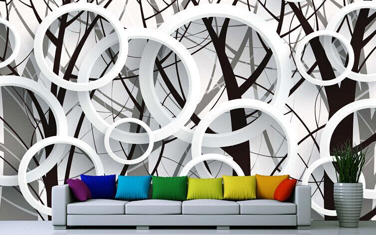 3D Bambus-Kreis 83 Tapete Wandgemälde Tapete Tapeten Bild Familie DE Summer  | Wunderbar  | Lebhaft  | Niedriger Preis