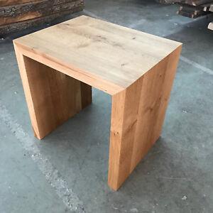 Details Zu Designer Hocker Eiche Wild Massiv Holz Sitzhocker Neu Stuhl Sitzbank Couchtisch