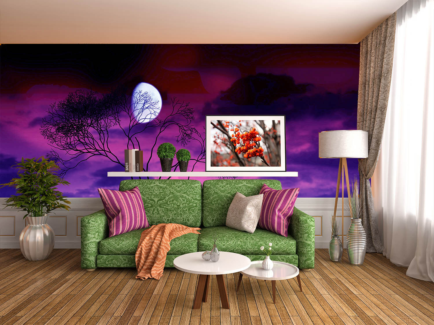 3D lila Sky Scenery 562 Wall Paper Wall Print Decal Wall Deco Indoor Mural