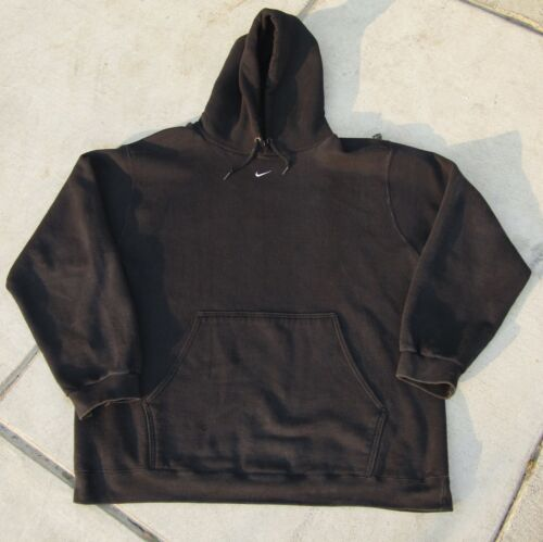 Vintage Nike Center Swoosh Hoodie Check Middle Tra
