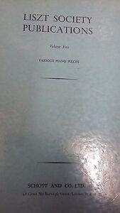 2019 Nouveau Style Liszt: Volume 5: Divers Piano Pieces: Musique (lp5)-afficher Le Titre D'origine éLéGant Dans Le Style