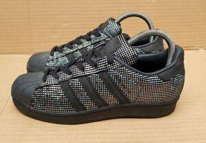estilo limitado moda de lujo calidad confiable ** RARE * ADIDAS SUPERSTAR TRAINERS SIZE 3.5 UK BLACK ...