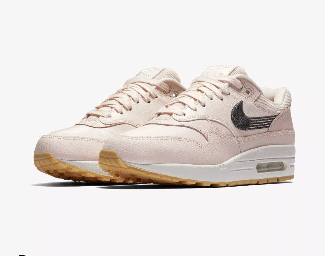 Nike Wmns Air Max 1 Premium  New Guava Ice Lifestyle Sneakers 454746 800 SZ 7