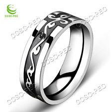10PCS Dragon Stainless Steel Titanium Men's Wedding Band Black Silver Rings