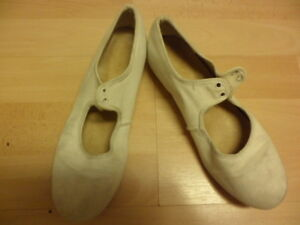 Katz Blanco Lona Zapatos De Tap Adulto Tamaño 3