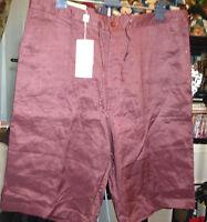 Syllables Unisex Dress Shorts Xl Ramie Red Plum